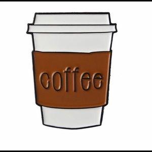Jewelry - 🛑S A L E🛑 Coffee Cup Mug To-Go Enamel Pin